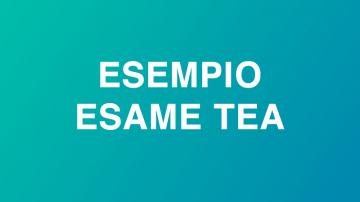Esempio Esame TEA - TEA example